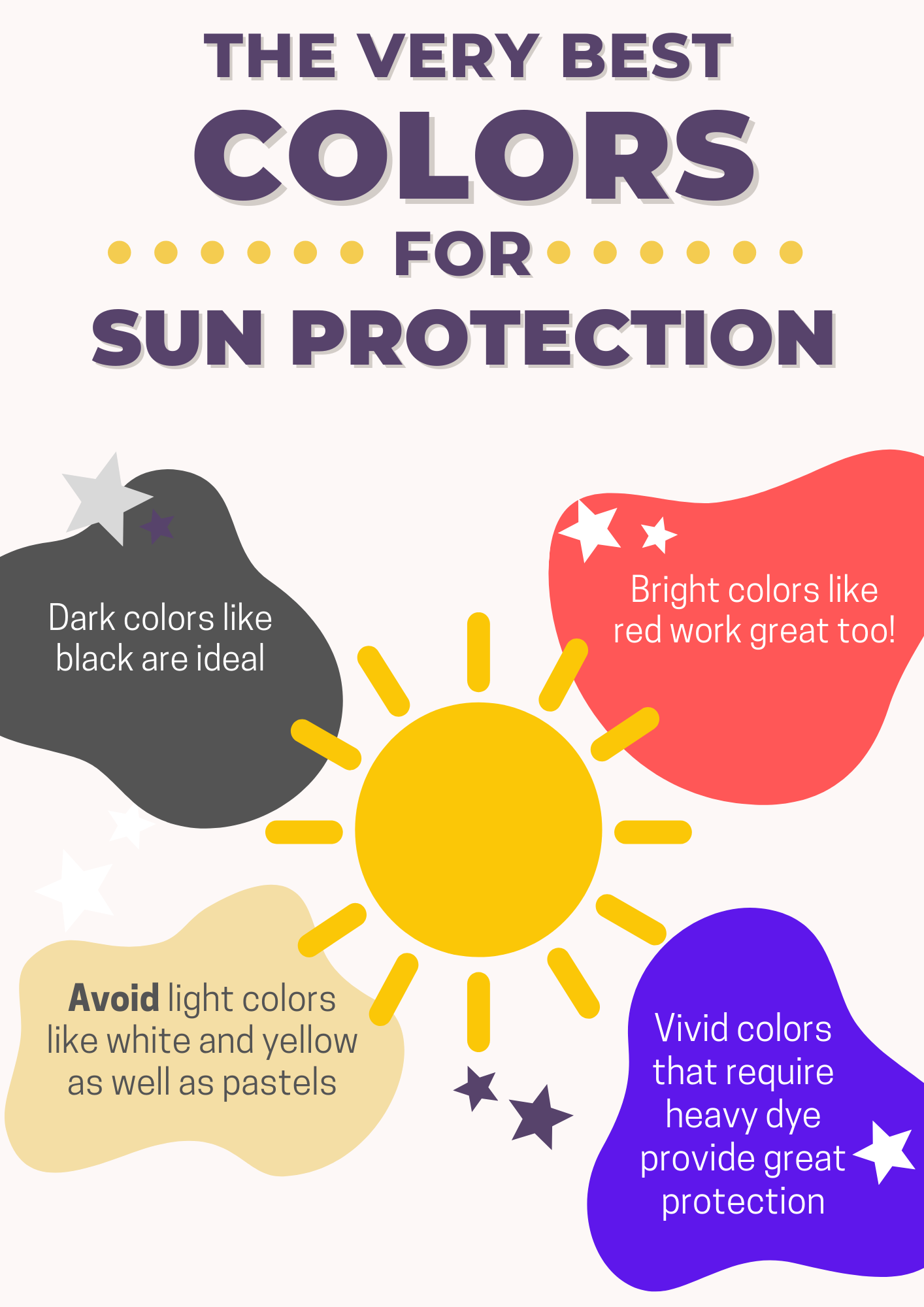 best colors for sun protection