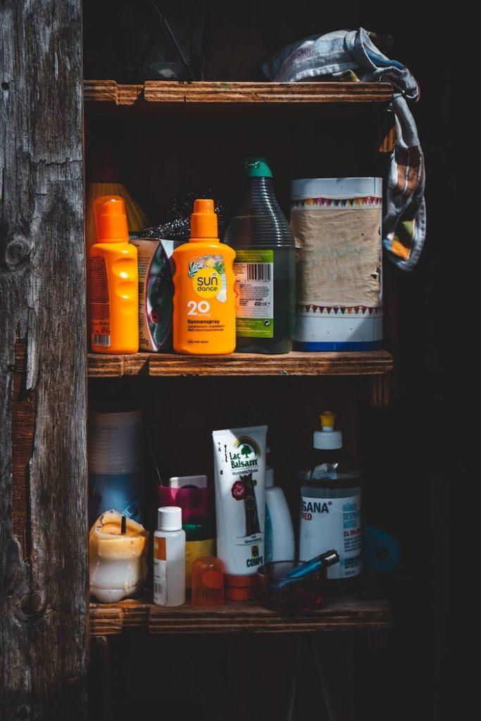 sunscreen closet